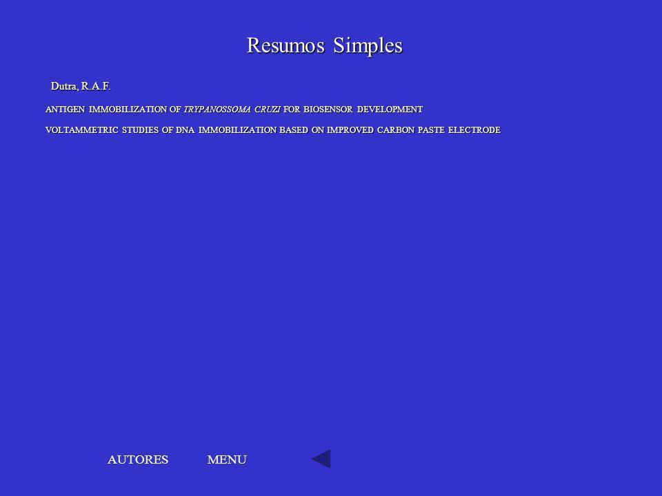 Resumos Simples AUTORES MENU Dutra, R.A.F.