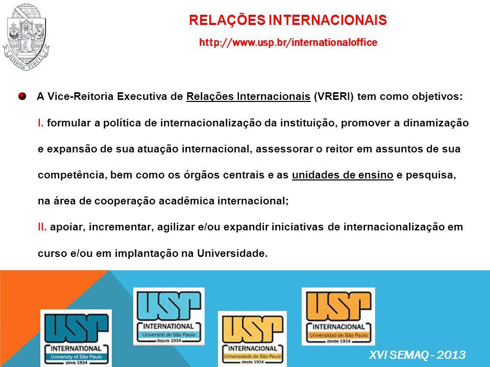RELAÇÕES INTERNACIONAIS http://www.usp.br/internationaloffice