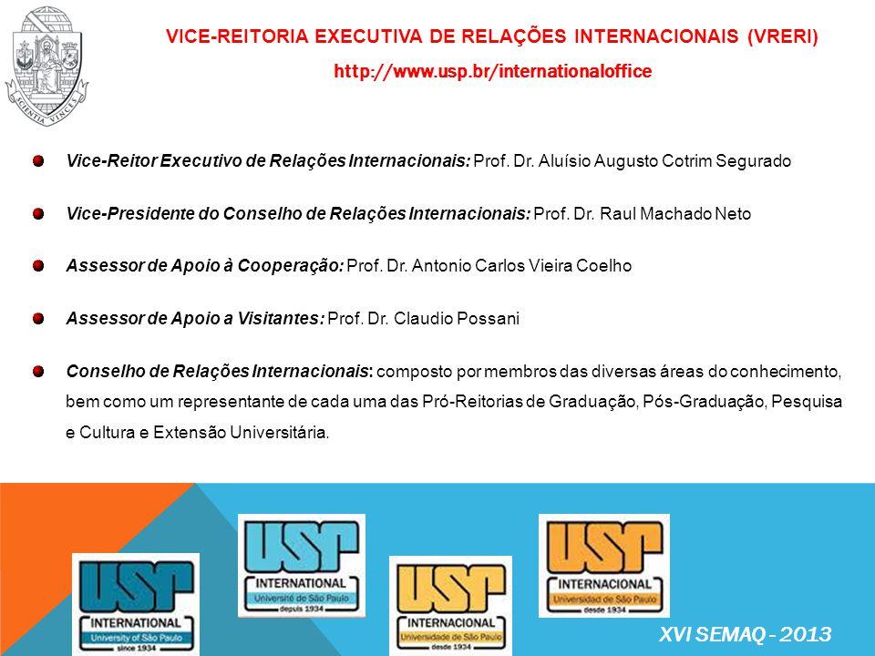 Vice-Reitoria Executiva de Relações Internacionais (VRERI) http://www