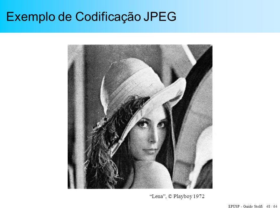 Exemplo de Codificação JPEG