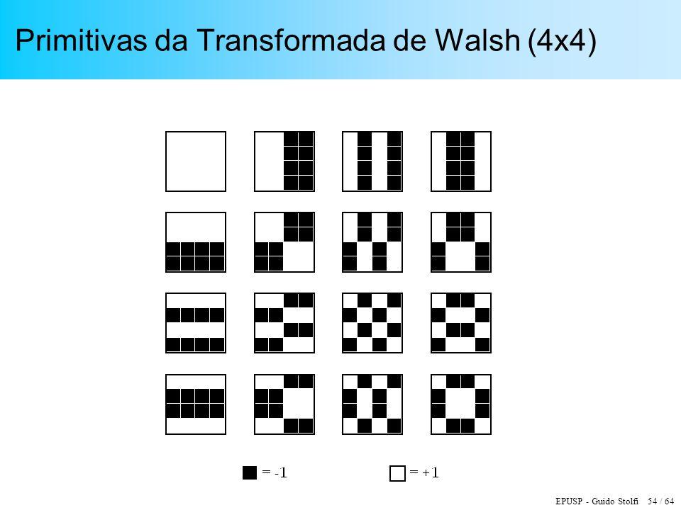 Primitivas da Transformada de Walsh (4x4)