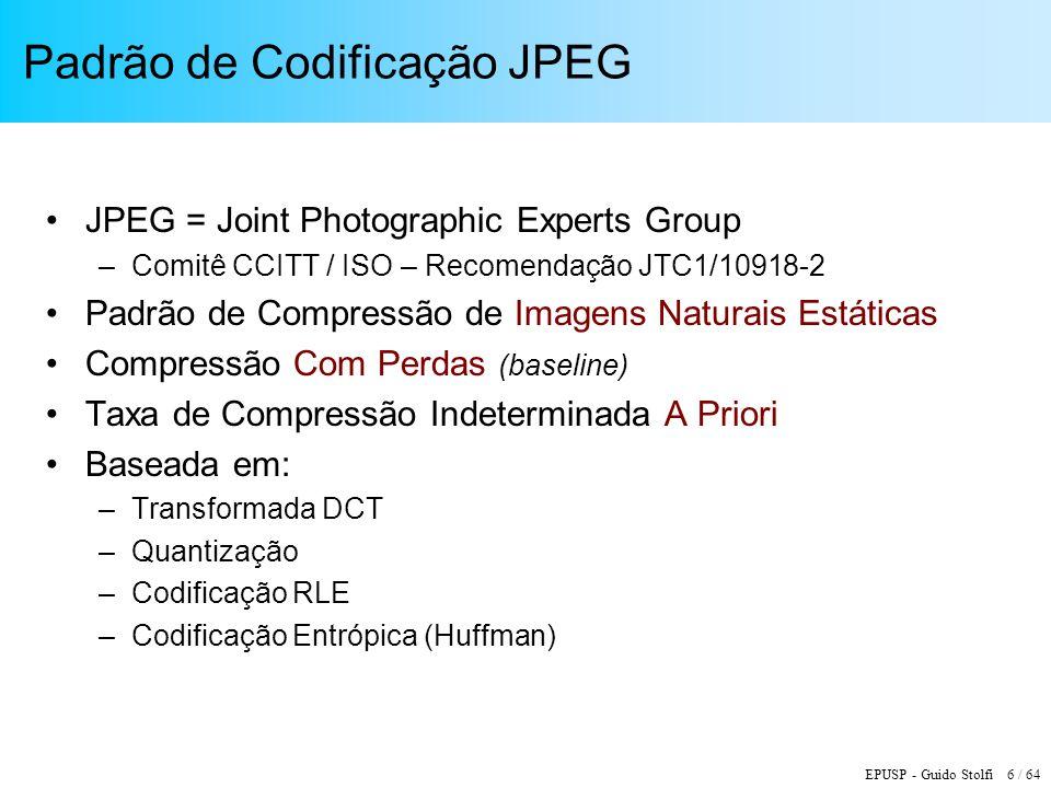 Padrão de Codificação JPEG