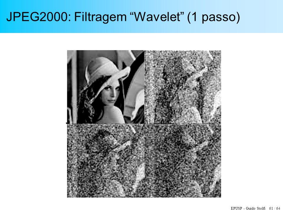 JPEG2000: Filtragem Wavelet (1 passo)