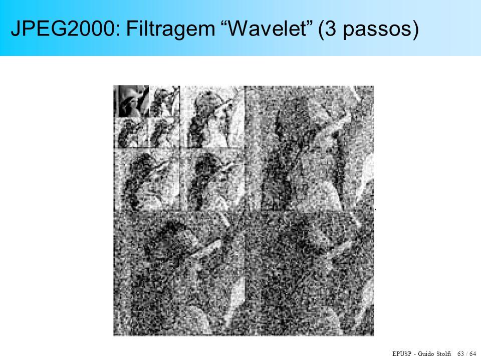 JPEG2000: Filtragem Wavelet (3 passos)