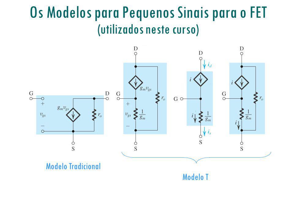 Os Modelos para Pequenos Sinais para o FET (utilizados neste curso)