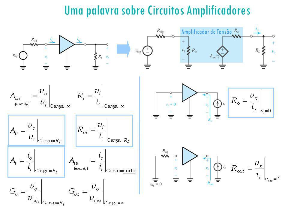 Uma palavra sobre Circuitos Amplificadores