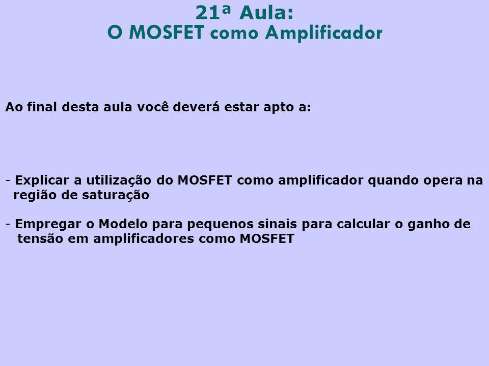 O MOSFET como Amplificador