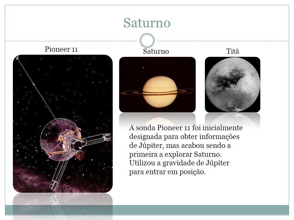 Saturno Pioneer 11 Saturno Titã