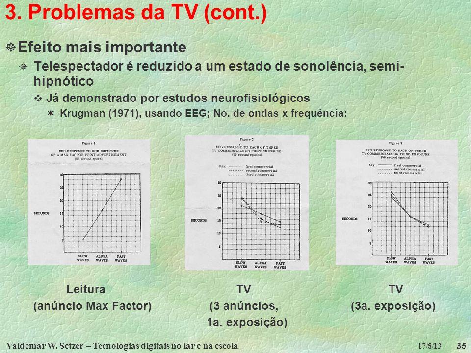 3. Problemas da TV (cont.) Efeito mais importante
