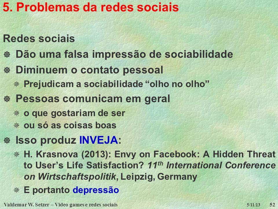 5. Problemas da redes sociais