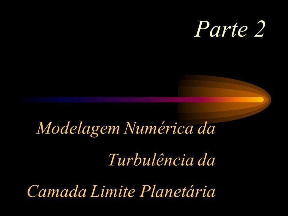 Modelagem Numérica da Turbulência da Camada Limite Planetária
