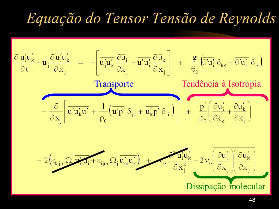 Equação do Tensor Tensão de Reynolds