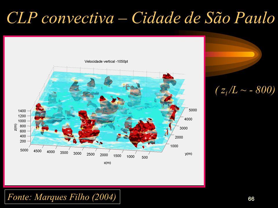 CLP convectiva – Cidade de São Paulo
