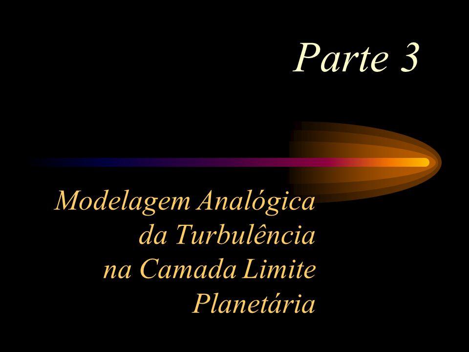Modelagem Analógica da Turbulência na Camada Limite Planetária