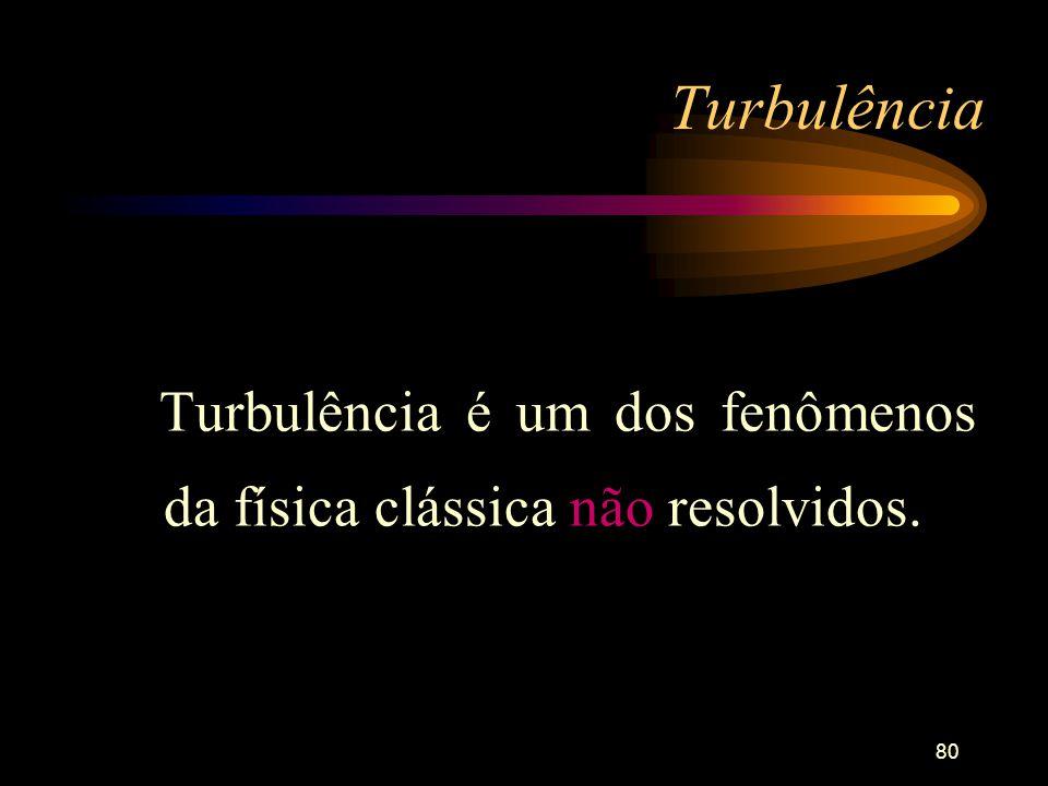 Turbulência é um dos fenômenos da física clássica não resolvidos.