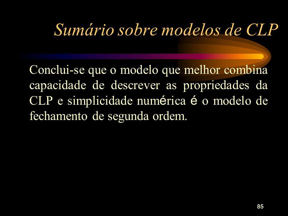 Sumário sobre modelos de CLP