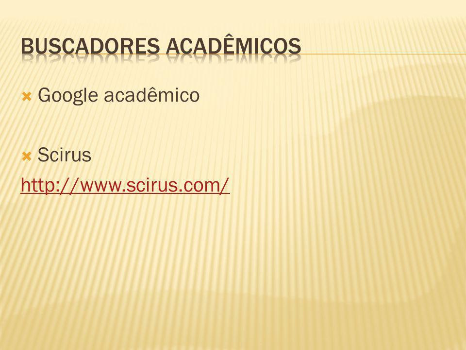 Buscadores acadêmicos