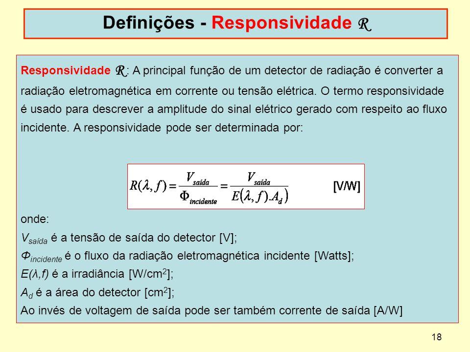 Definições - Responsividade R