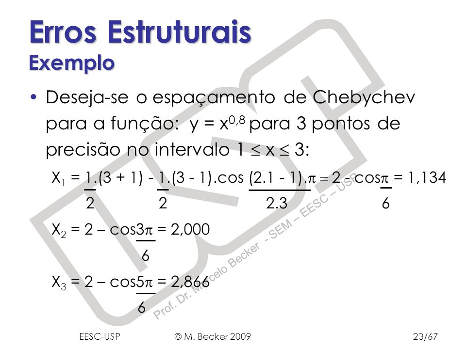 Erros Estruturais Exemplo