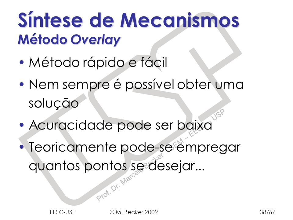 Síntese de Mecanismos Método Overlay