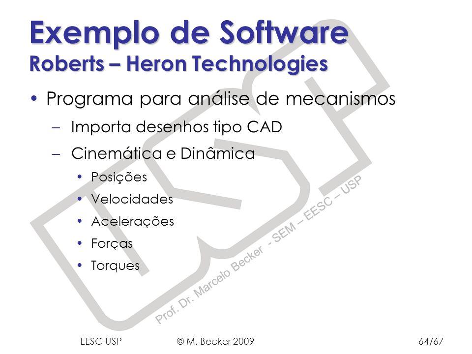 Exemplo de Software Roberts – Heron Technologies