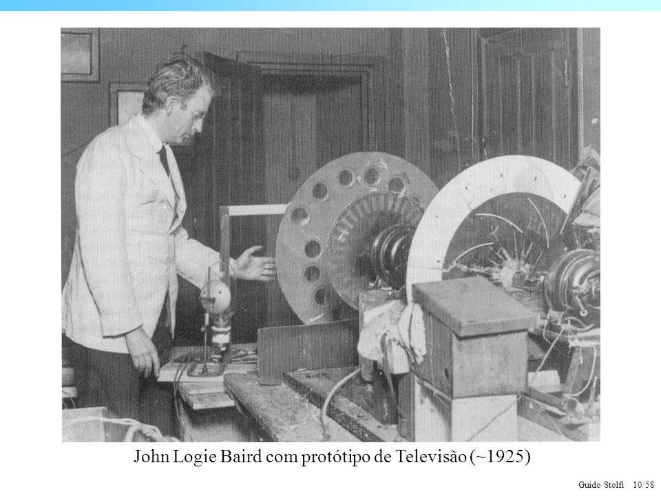 John Logie Baird com protótipo de Televisão (~1925)