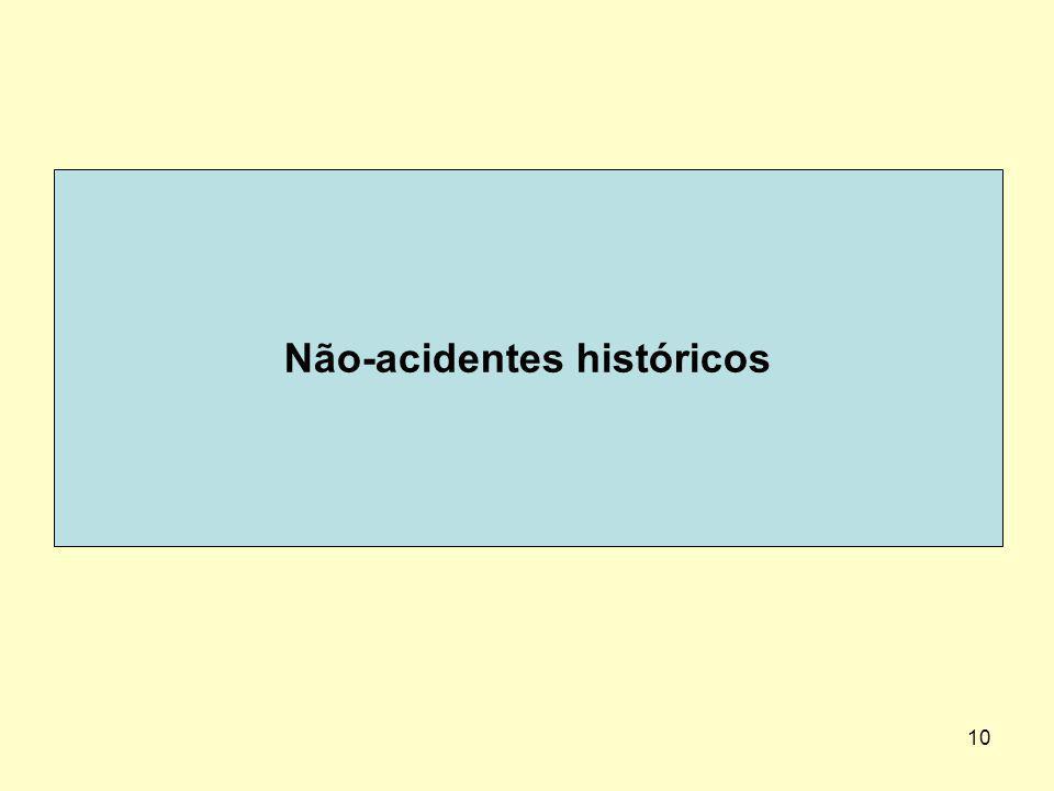Não-acidentes históricos