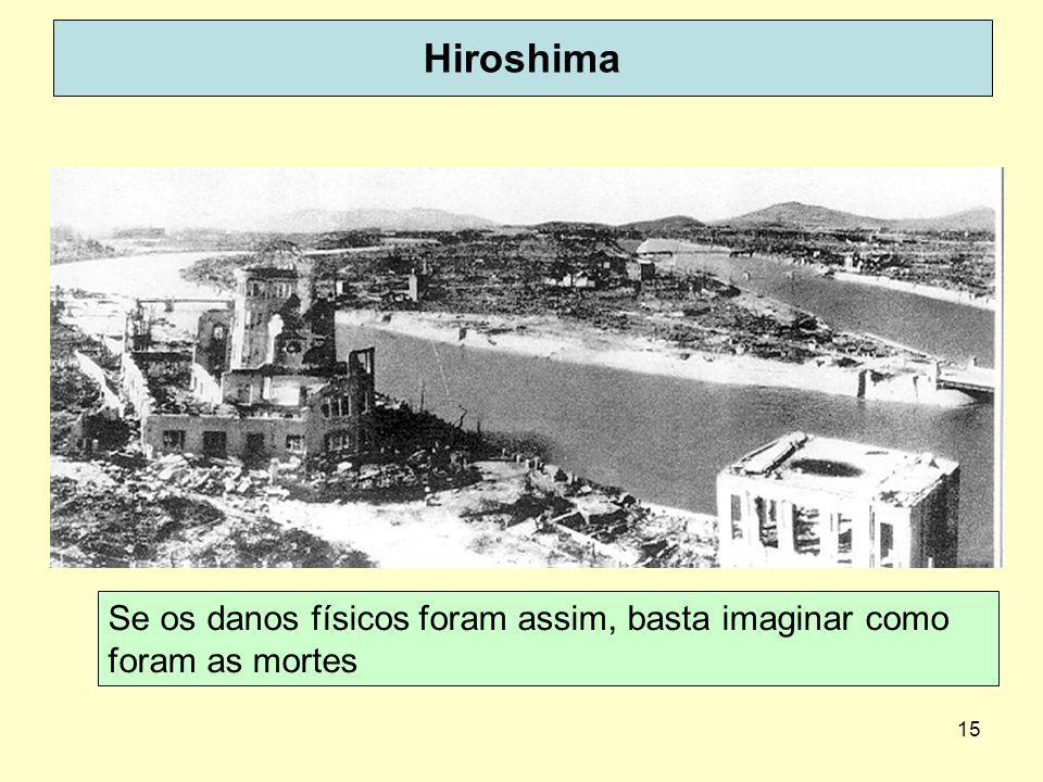 Hiroshima Se os danos físicos foram assim, basta imaginar como foram as mortes