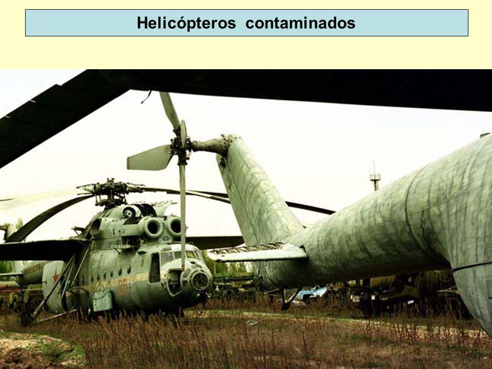 Helicópteros contaminados