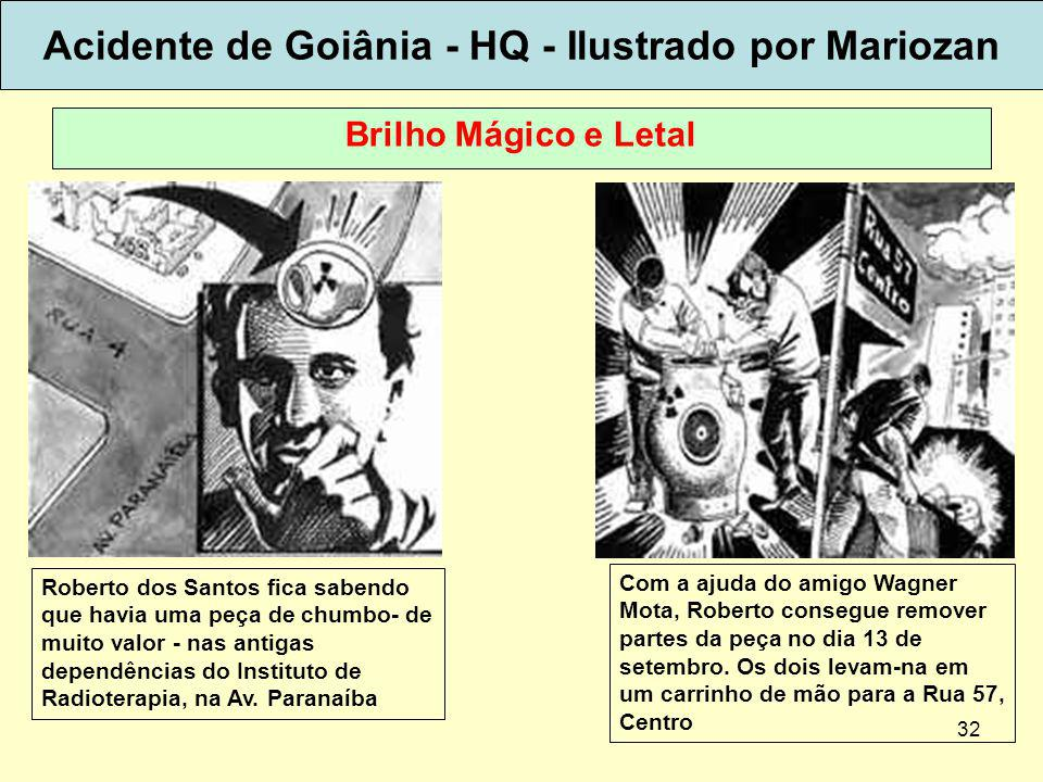 Acidente de Goiânia - HQ - Ilustrado por Mariozan