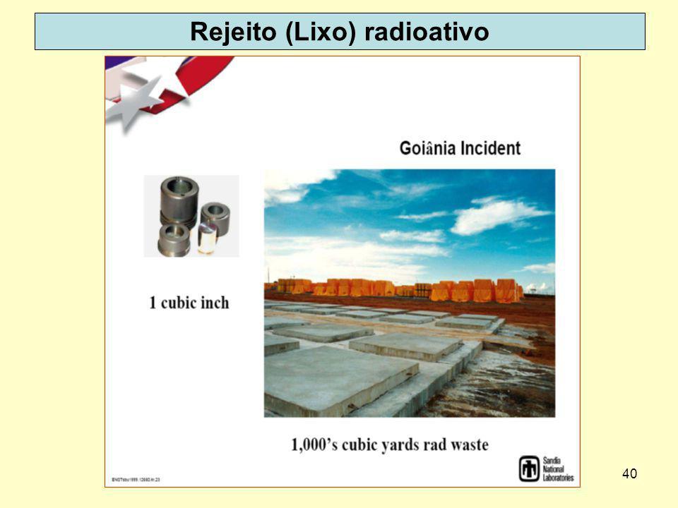 Rejeito (Lixo) radioativo