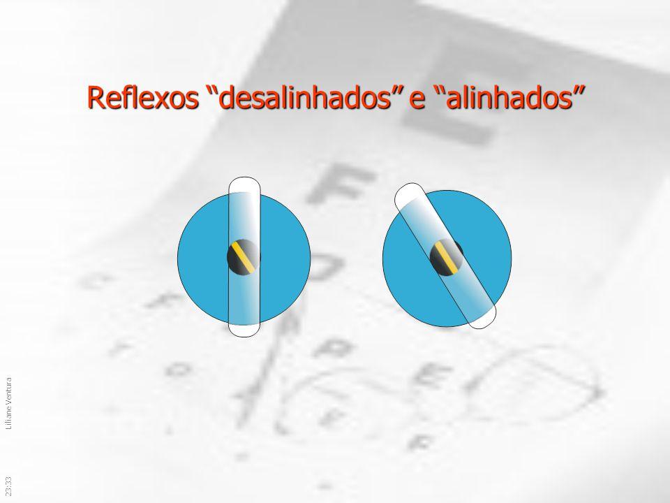 Reflexos desalinhados e alinhados