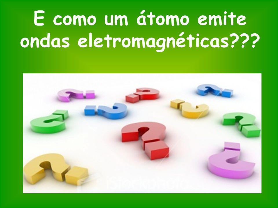 E como um átomo emite ondas eletromagnéticas