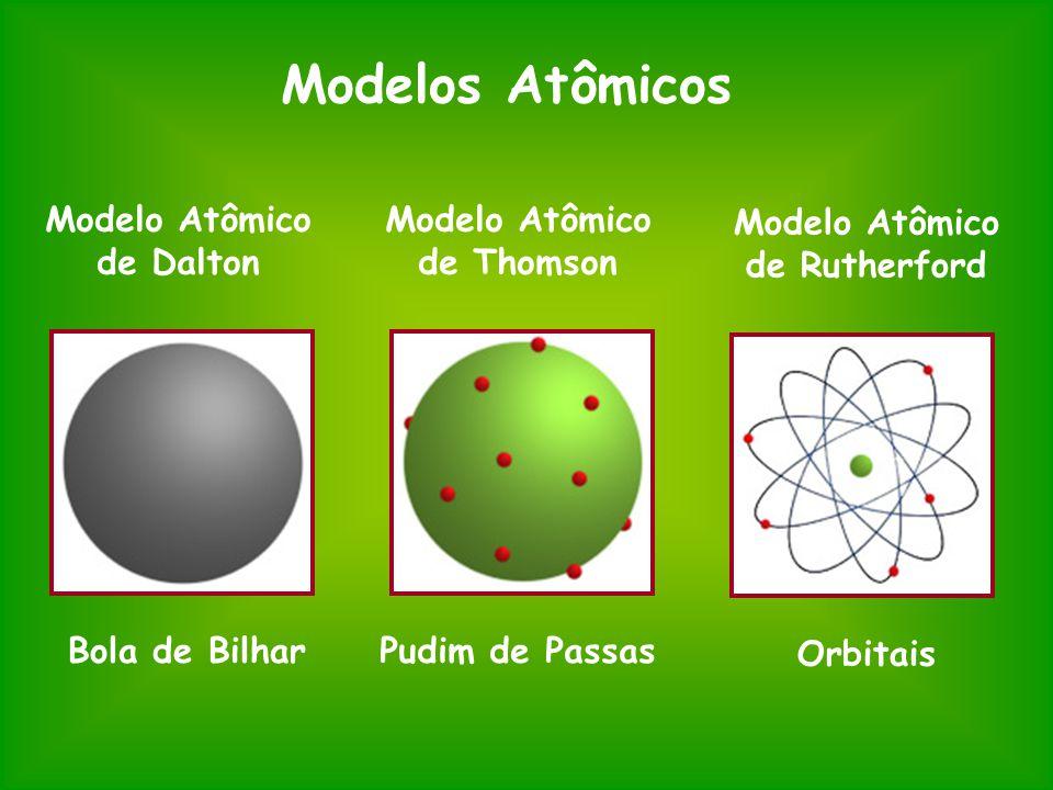 Modelos Atômicos Modelo Atômico de Dalton Modelo Atômico de Thomson