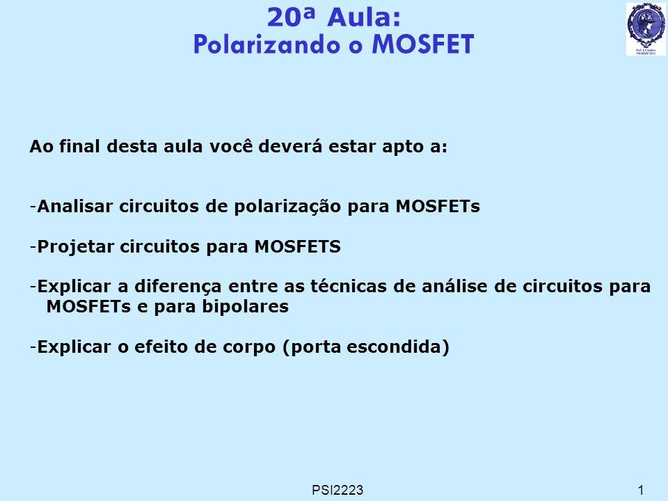 Polarizando o MOSFET 20ª Aula: