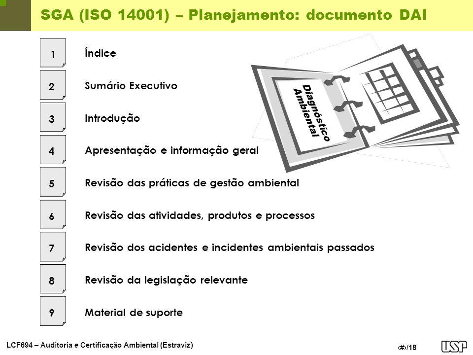 SGA (ISO 14001) – Planejamento: documento DAI