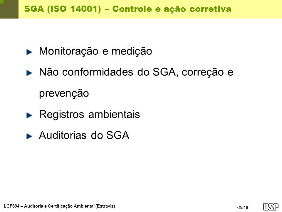 SGA (ISO 14001) – Controle e ação corretiva