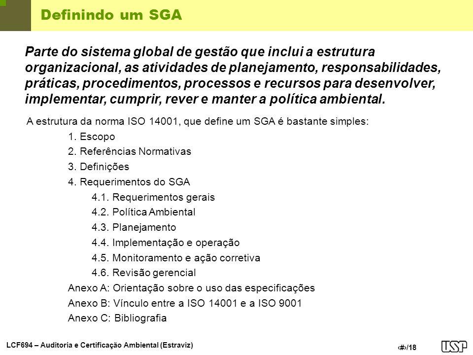 Definindo um SGA