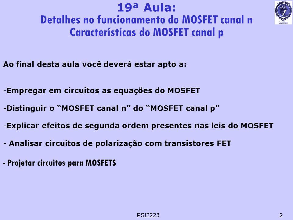 Detalhes no funcionamento do MOSFET canal n