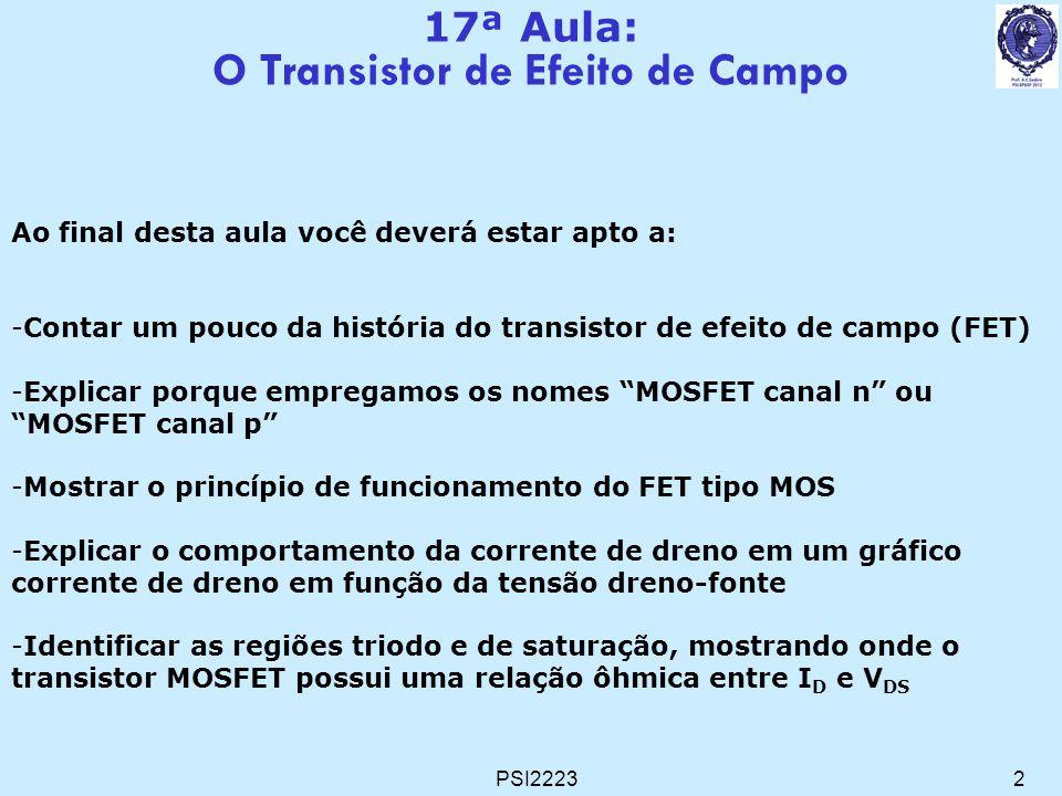 O Transistor de Efeito de Campo