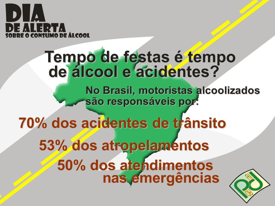 Tempo de festas é tempo de álcool e acidentes