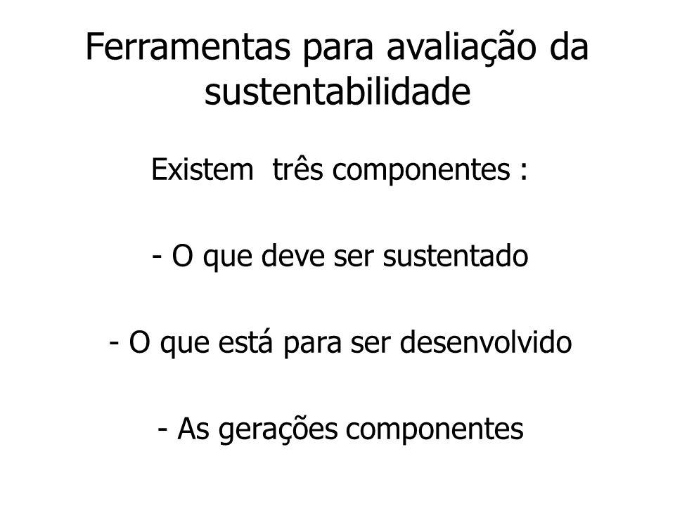 Ferramentas para avaliação da sustentabilidade