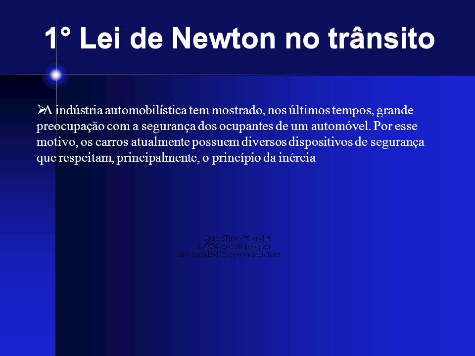 1° Lei de Newton no trânsito
