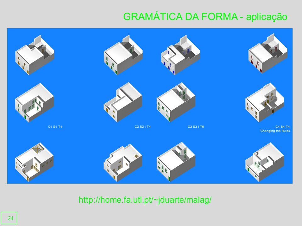 GRAMÁTICA DA FORMA - aplicação