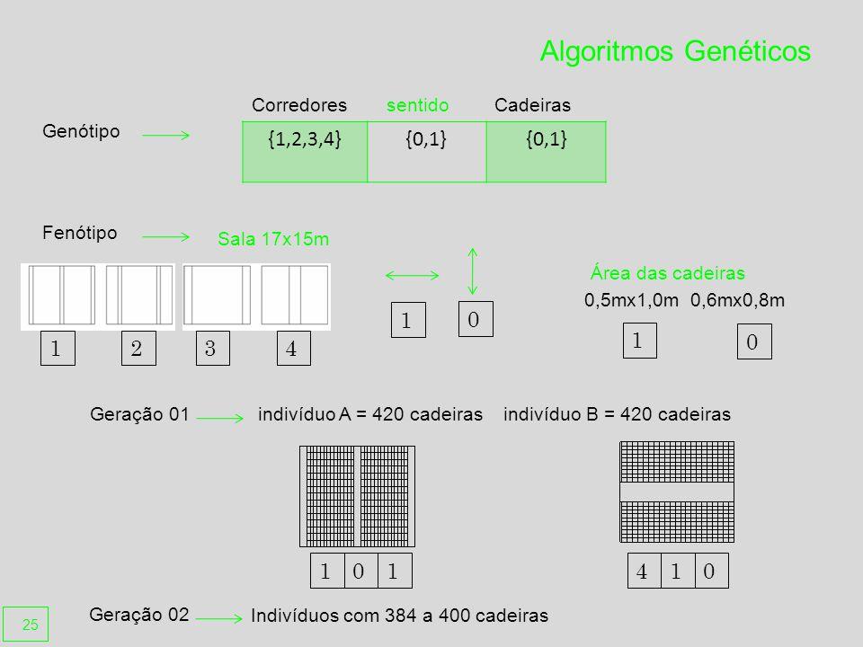 Algoritmos Genéticos {1,2,3,4} {0,1} 1 1 1 2 3 4 1 1 4 1 Corredores