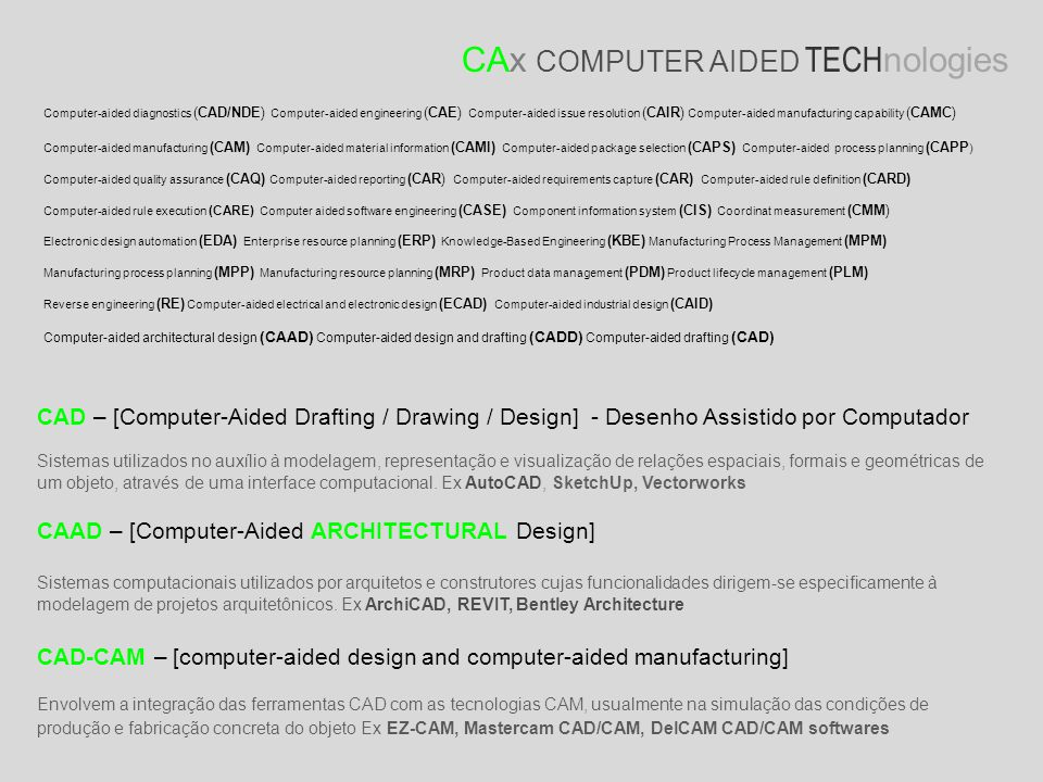 CAx COMPUTER AIDED TECHnologies