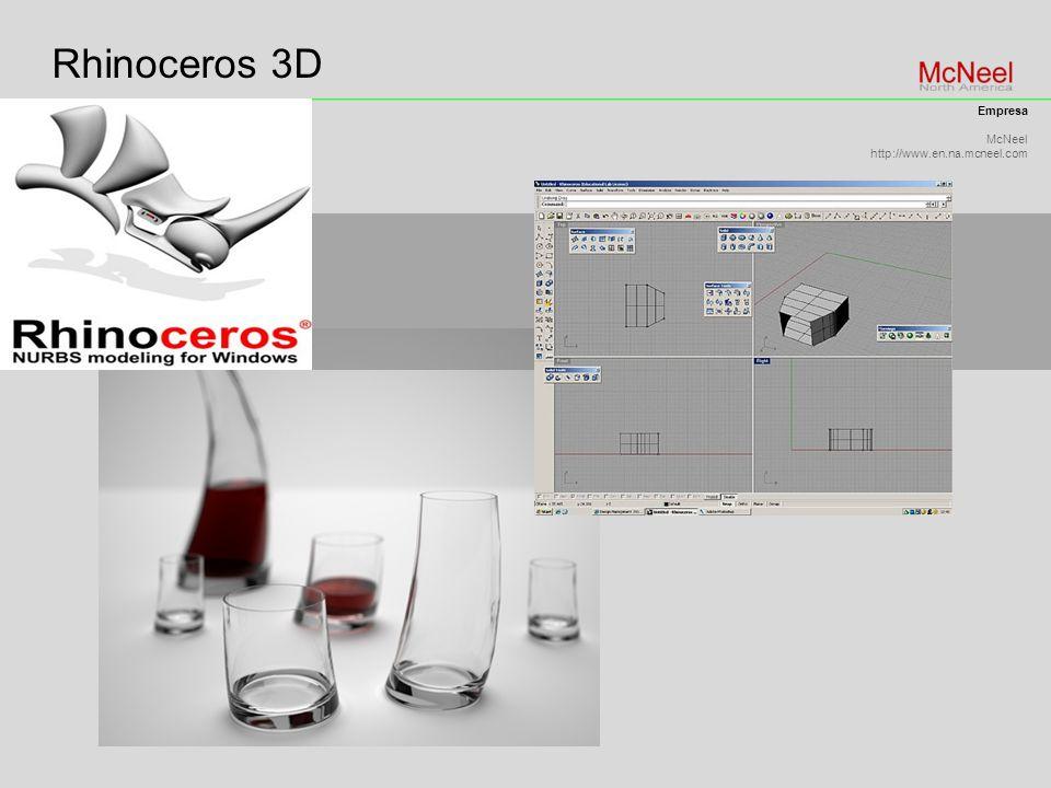 Rhinoceros 3D Empresa McNeel http://www.en.na.mcneel.com