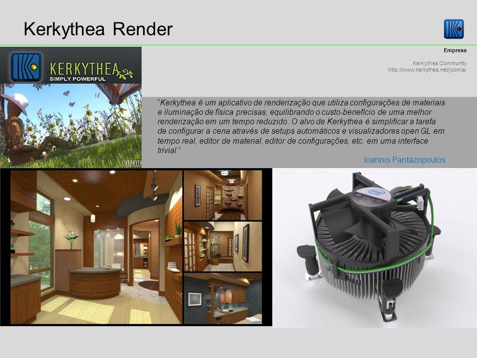 Kerkythea Render Empresa. Kerkythea Community. http://www.kerkythea.net/joomla/