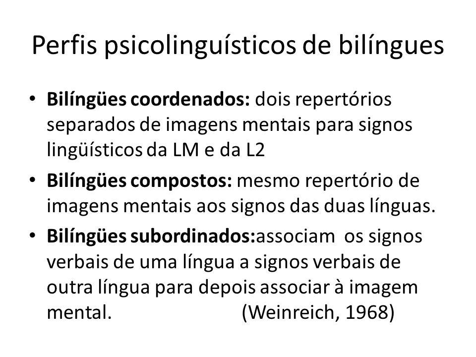 Perfis psicolinguísticos de bilíngues