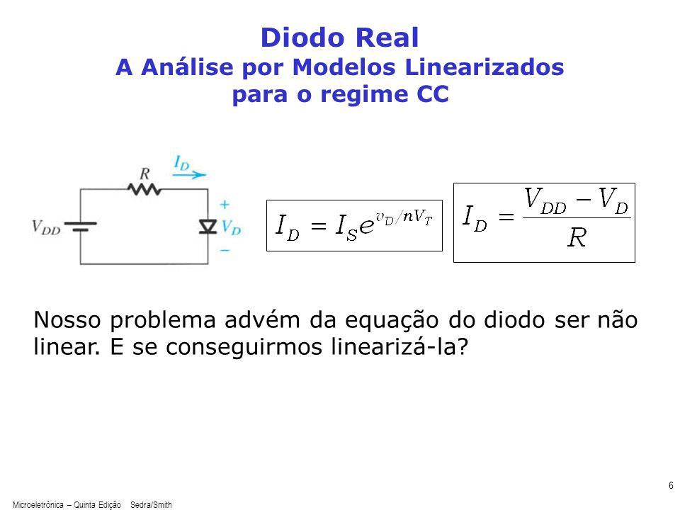 A Análise por Modelos Linearizados para o regime CC